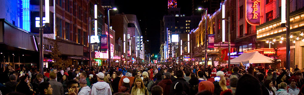 Downtown Vancouver on Granville Street